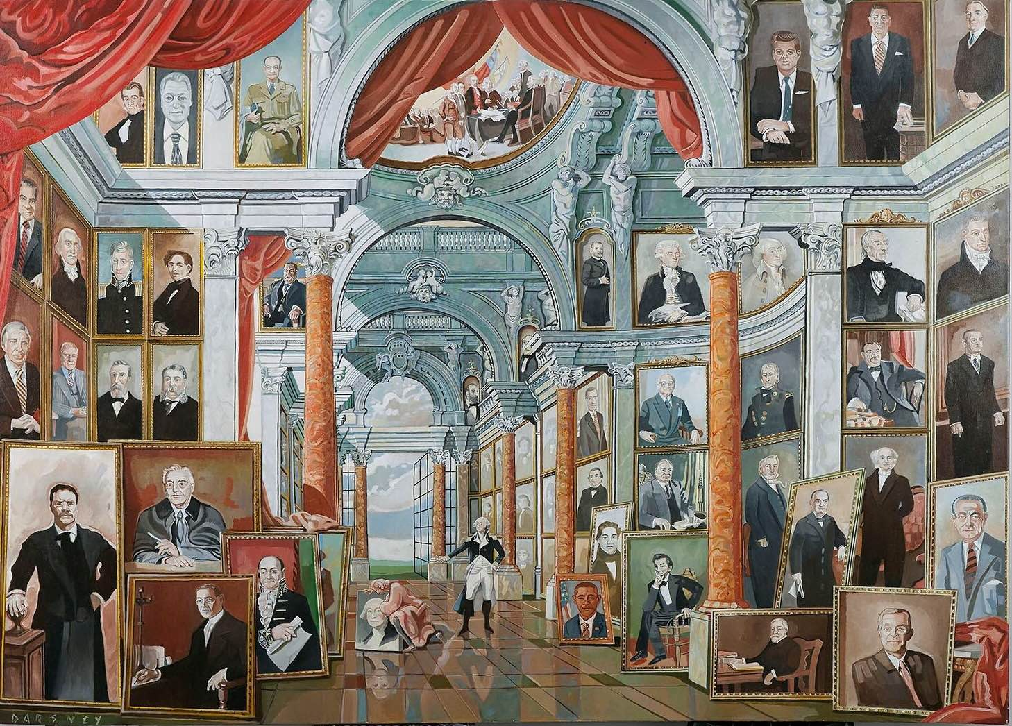 Hall of Presidents 60x80 Oil on canvas